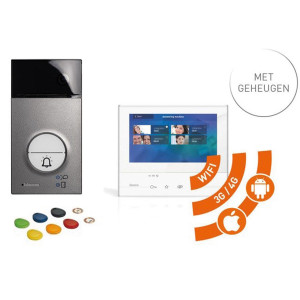 Videofoon kit BTicino met geheugen en wifi Linea 3000 + Classe 300