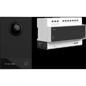 Videokit, 2-draads, met controller en buitenpost, voor opbouw, 1 beldrukknop