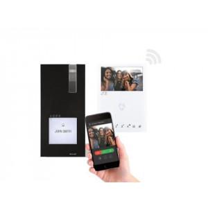 Comelit Quadra kit mini handsfree 2-draads met wifi - BLACK