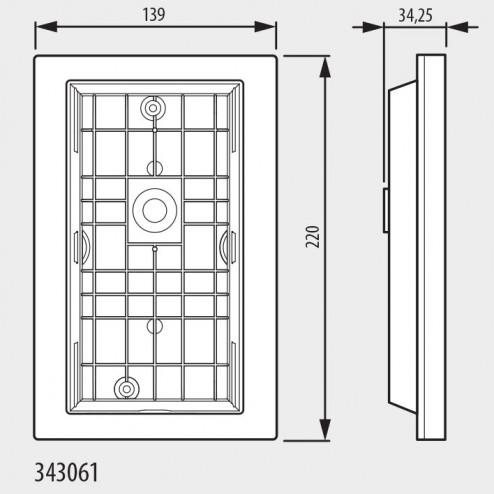 343061-BTcino Inbouwkader voor Linea 3000-BTicino